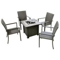 $100 off Pasadena 5-Pc. Fire Pit Set, 4 Resin Wicker-Over-Steel Chairs + Free Shipping