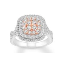 $1,000 off 10K Two-Tone Gold Diamond Ring