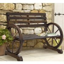 $103 off BCP Wooden Rustic Wagon Wheel Bench + Free Delivery