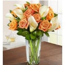 11% off Autumn Rose & Calla Lily Bouquet + Free Vase