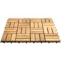 12 Inch Square Teak Flooring Tiles - 10 Pack Now $34.99
