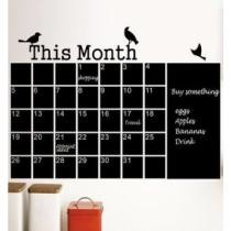 $12 Monthly Planner Blackboard Wall Sticker + Free Shipping