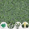 "12pcs 20x20"" Artificial Boxwood Wall Hedge Mat Privacy Fence Decor Grass Panel"