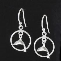13% off Solid Sterling Silver Dolphin Drop Earrings