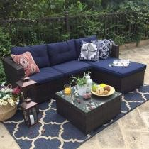 $140 off 3 PC Rattan Patio Sofa Set + Free Shipping
