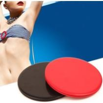15% off 1 Pair 17.8cm Fitness Exercise Core Training Abdominal Workout Round Shape Gliding Discs Sliding Disc