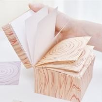 15% off 1095 Korean Version of Wood Grain Brick Can Be Torn Thick 600 Message Note Sticky Notes, Random Style Delivery