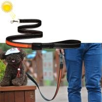 15% off 1.2m Medium & Large Dog Pet Solar + USB Charging LED Light Traction Rope - Orange