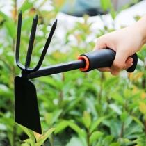 15% off 2-in-1 Cultivators Tool Gardening Planting Digging Non-Slip Rubber Handle Iron Hoe Rake