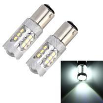 15% off 2 Pc 1176 / BAY15D 5W 250LM 6000K Car Auto Brake Lights 16LEDs SMD-2835 Lamps, DC 12V (White Light)