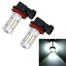 15% off 2 Pc H11 / H8 DC 12V 5W 250LM Auto Car Fog Lights w/ 16 SMD-2835 LED Bulbs (White Light)