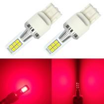 15% off 2 Pc T20 / 7443 12W 330LM Car Auto Brake Lights 12LEDs SMD-3030 Lamps, DC 12V-24V - Red Light