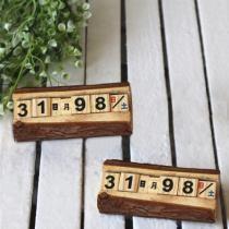 15% off 2 PCS Creative Wooden Cubes Perpetual Calendar Desk Decorations