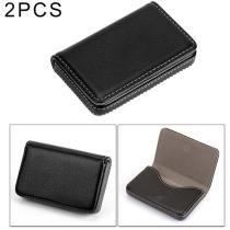 15% off 2 Piece Premium PU Leather Business Card Case w/ Magnetic Closure