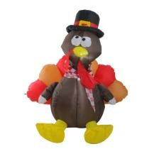 "15% off 4"" Inflatable Lighted Thanksgiving Turkey Outdoor Decoration + Free Shipping"