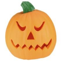 "15% off 9.75"" Orange & Green Animated Double-Sided Pumpkin Halloween Decor + Free Shipping"