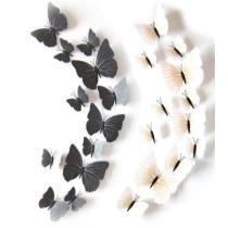 15% off Black & White 3D Butterflies - Set of 12