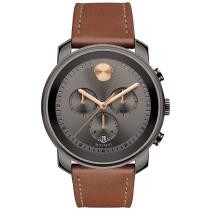 15% off Movado Men's Swiss Chronograph Bold Cognac Leather Strap Watch 44mm
