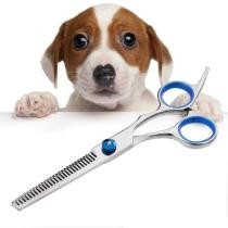 15% off Pet Professional Hairdressing Tools Home-Use Dog Hair Trimmer Thinning Scissors Silver