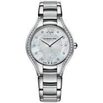 15% off Raymond Weil Women's Swiss Noemia Diamond Accent Stainless Steel Bracelet Watch
