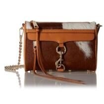 15% off Rebecca Minkoff Calf Hair Mini MAC Clutch Sand + Free Shipping