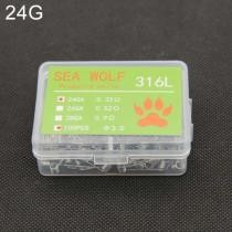 15% off Sea Wolf 316L 100 Pieces/Box Electronic Cigarette RDA RBA RTA Wick Wire Premade Coils 24GA Heating Wire