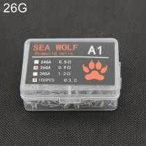 15% off Sea Wolf A1 100 Pieces/ Box Electronic Cigarette RDA RBA RTA Wick Premade Coils 26GA DIY Heating Wire