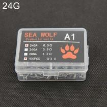 15% off Sea Wolf A1 100 Pieces/Box Electronic Cigarette RDA RBA RTA Wick Premade Coils 24GA DIY Heating Wire