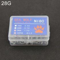 15% off Sea Wolf NI80 100 Pieces/ Box Electronic Cigarette RDA RBA RTA Wick Premade Coils 28GA DIY Heating Wire