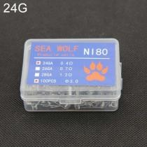 15% off Sea Wolf NI80 100 Pieces/Box Electronic Cigarette RDA RBA RTA Wick Premade Coils 24GA DIY Heating Wire
