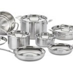 $159.99  Cuisinart 12-Piece Triply Stainless Cookware Set  (vs. $229) at Woot!