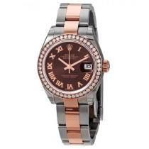 16% off Datejust Chocolate Dial Automatic Ladies Steel and 18K Oyster Watch