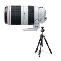18% off Canon EF 100-400mm II USM IS Zoom Lens w/ Vanguard 264AB-100 Tripod