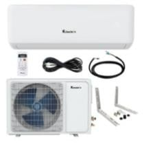 19% off 9,000 BTU Klimaire 17 Seer Ductless Mini-Split Inverter Air Conditioner Heat Pump & Healthy Multifunction Filter System w/ Free Wall Bracket, Interconnecting & 230 Volt Power Cable + Free Shipping