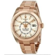 19% off Sky Dweller White Dial Automatic Men's 18kt Everrose Gold Oyster Watch