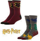 2-Pairs Bioworld Harry Potter Crew Socks