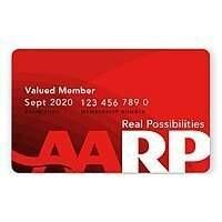 2 Year AARP Membership (any age can join) $12/1yr, $20/2yrs, $50/5yrs (regular $16/yr)