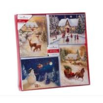 20-Ct. Winter Scenery Assorted Christmas Boxed Cards w/ Envelopes Now $20 + Free Shipping