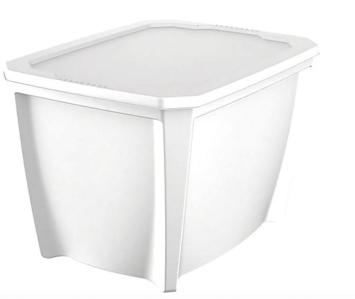 20 gallon tote on clearance at Staples for $2. B&M. YMMV. DCOL.
