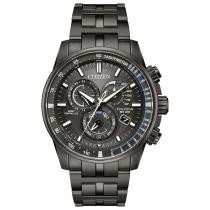 20% off Citizen Eco-Drive Men's Chronograph Perpetual Chrono A-T Gray Stainless Steel Bracelet Watch