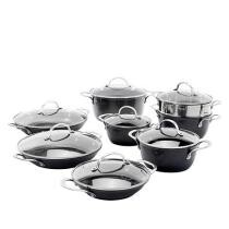20% off Curtis Stone Dura-Pan Nonstick 15-Piece Nesting Cookware Set + Free Shipping