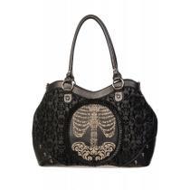 20% off Flocked Cameo Skeleton Handbag