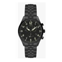 20% off Timex Men's Waterbury Chrono 42mm Black Stainless Steel Watch + Free Shipping