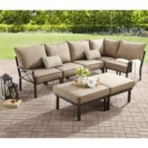 $200 off Mainstays Sandhill 7-Piece Outdoor Sofa Sectional Set