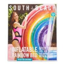 23% off South Beach Inflatable Rainbow Bed Pool Float