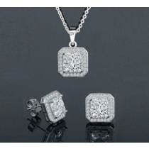 $23 Princess Pendant & Earrings Set (2 Pack) + Free Sipping