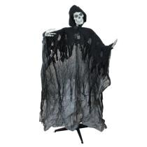 "24% off 60"" Black Pre-Lit & Musical Skeleton Ghost Reaper Standing Halloween Decor + Free Shipping"