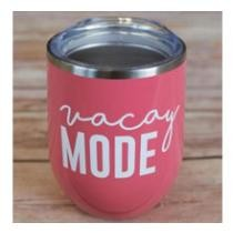 "24% off ""Vacay Mode"" Stainless Steel Tumbler + Free Shipping"