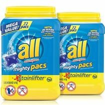 25% off 144-Count All Mighty Pacs Laundry Detergent w/ Subscribe & Save Checkout + Free Shipping