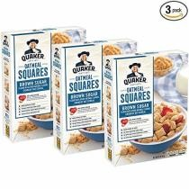 25% off 3-Count of Quaker Oatmeal Squares Breakfast Cereal w/ Subscribe & Save Checkout + Free Shipping